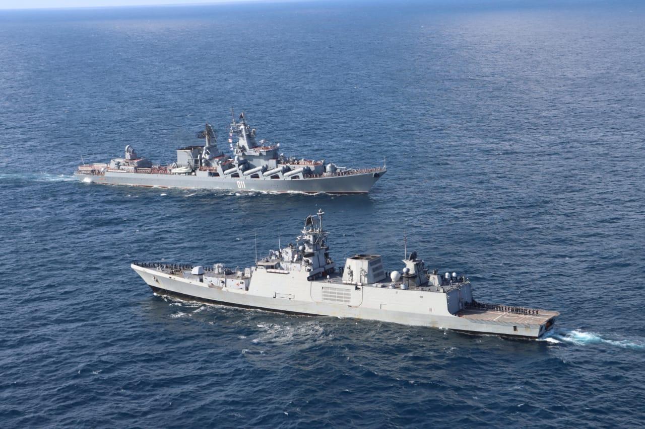 रूसी फेडरेशन नेवी और भारतीय नौसेना के बीच पैसेज अभ्यास