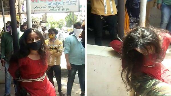 शर्मनाकः Jewelry theft: नरोड़ा में गहना चोरी करने के आरोप में युवती को खंभे से बांध कर पीटा