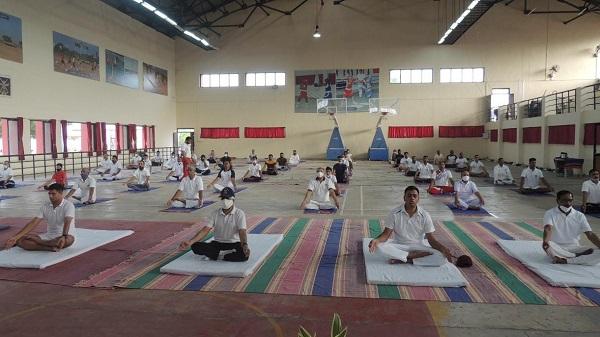 Yoga day: જામનગરની સૈનિક સ્કૂલ બાલાચડી ખાતે આંતરરાષ્ટ્રીય યોગ દિવસની ઉજવણી કરાઈ