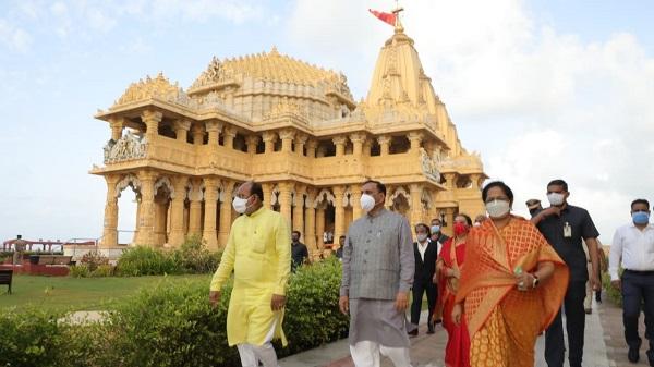 CM Somnath Darshan: मुख्यमंत्री विजय रूपाणी ने आज सोमनाथ महादेव के किए दर्शन