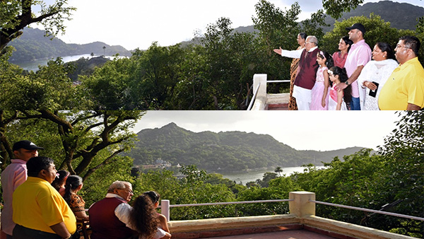 Governor abu visit: राजस्थान के राज्यपाल ने निहारा माउंट आबू का सौंदर्य, पौत्रियों को आबू की जैव विविधता और झील की सुनाई कहानी