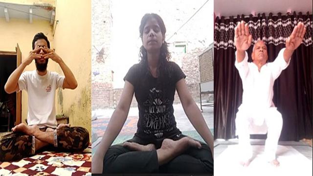 international yoga day: डॉ. भीमराव अंबेडकर कॉलेज में अंतरराष्ट्रीय योग दिवस मनाया गया