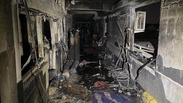 Fire in Baghdad Covid Ward: बगदाद में कोविड वार्ड में लगी आग, 50 मरीज जिंदा जले