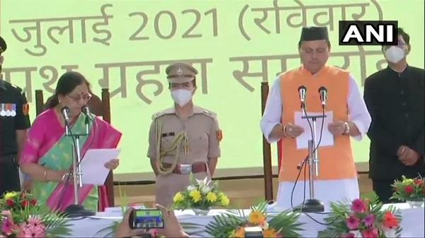 Pushkar Singh Dhami: उत्तराखंड के सीएम बने पुष्कर सिंह धामी, राज्यपाल ने दिलाई शपथ