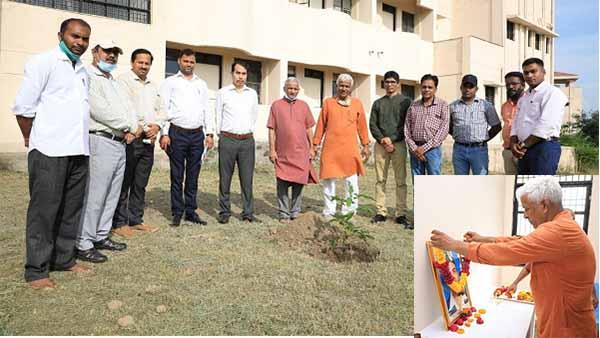 Shahid Rajguru jayanti: शहीद राजगुरू की जयंती पर छात्रावास में किया वृक्षारोपण