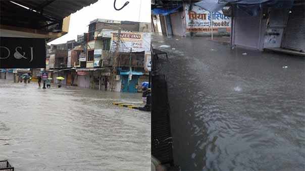 Baran Water Logging: बारां जिले के सदर बाजार में जलभराव से लोग परेशान, देखें जलभराव की तस्वीरें