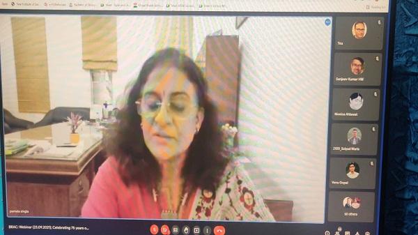 Dr Bhimrao Ambedkar Collage: आजादी के अमृत महोत्सव पर डॉ. भीमराव आंबेडकर महाविद्यालय में वेबिनार का आयोजन
