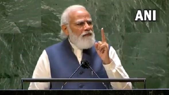 UNGA PM speech: संयुक्त राष्ट्र महासभा में बिना नाम लिए ही पाकिस्तान पर बरसे पीएम, जानें क्या कहा