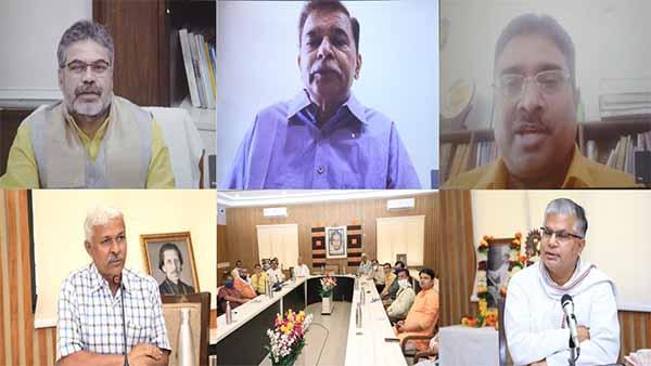 Webinar: आनंद कें. कुमारस्वामी ने स्वराज के यत्न को चिन्मय बनाया : प्रो. रजनीश कुमार शुक्ल